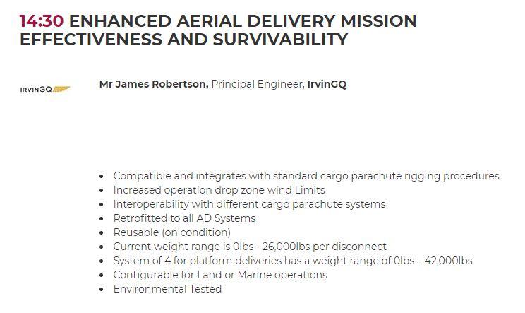 IrvinGQ Military Airlift Speaker Slot