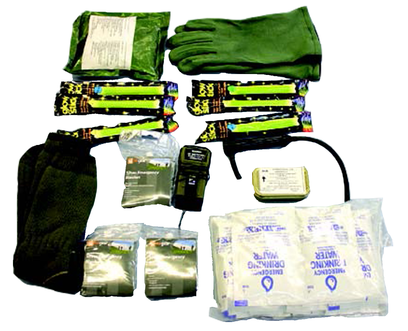 IrvinGQ Aircraft survival pack contents