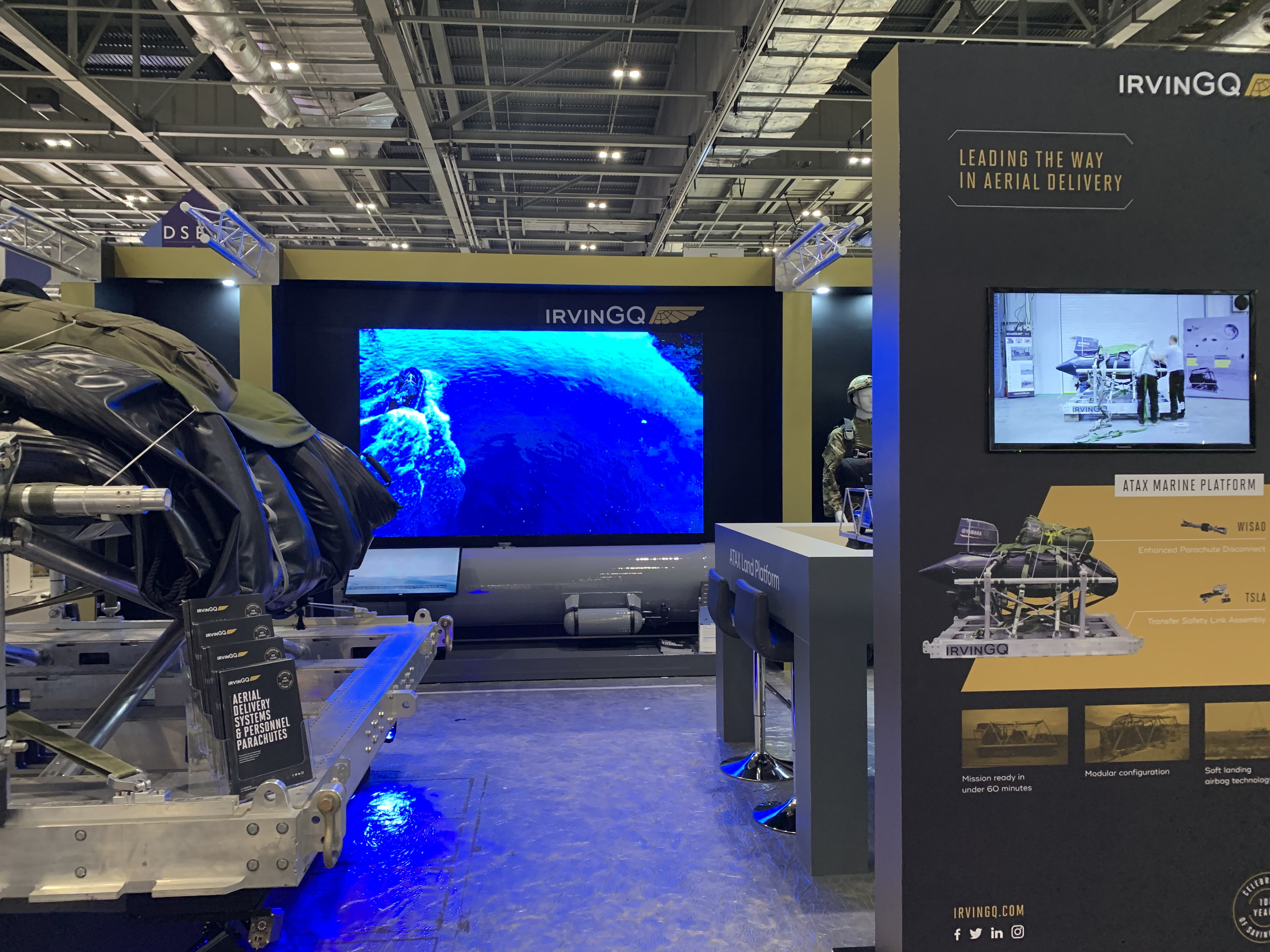 IrvinGQ at DSEI 2019 Products on Display