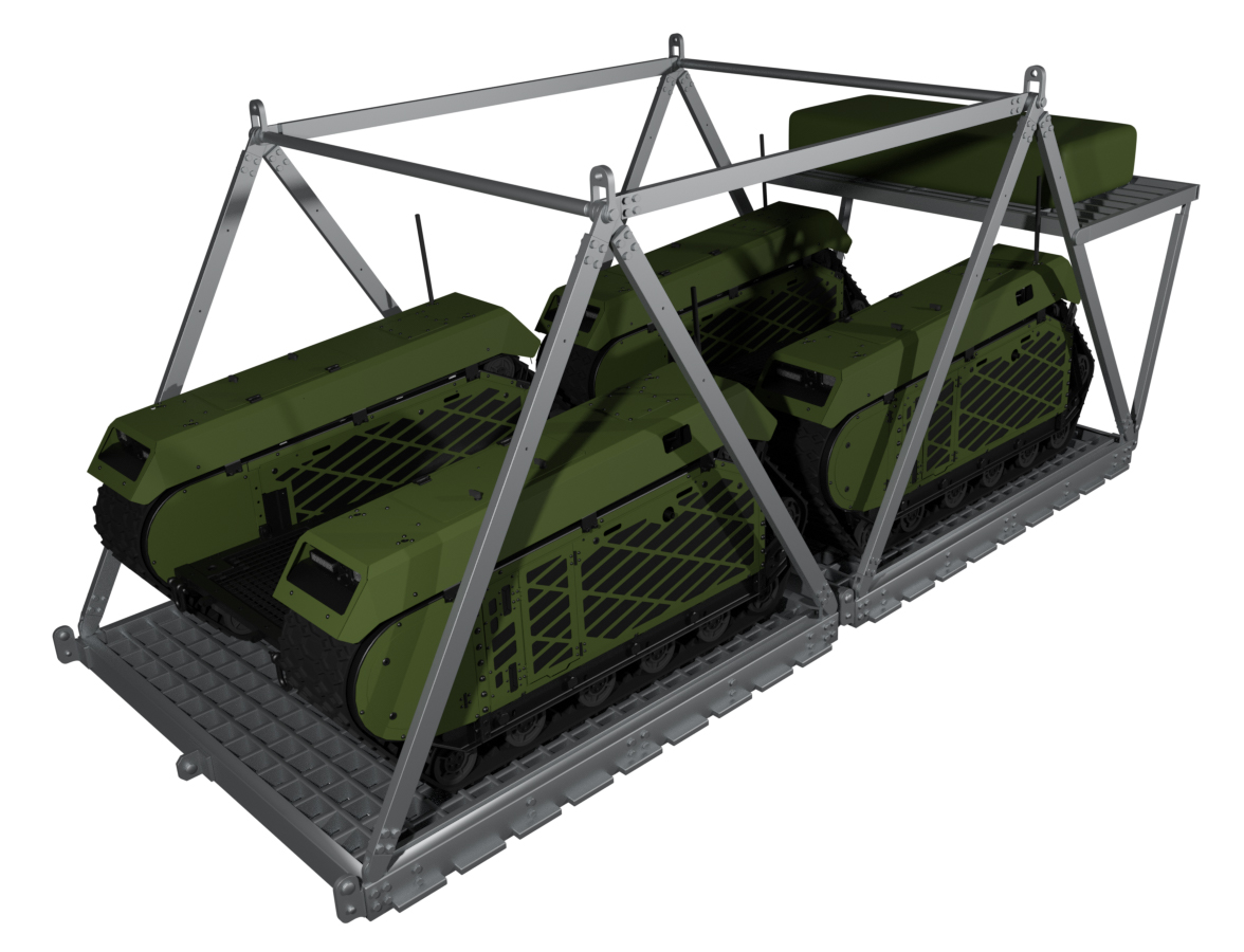 Milrem IrvinGQ unmanned vehicle airdrop system