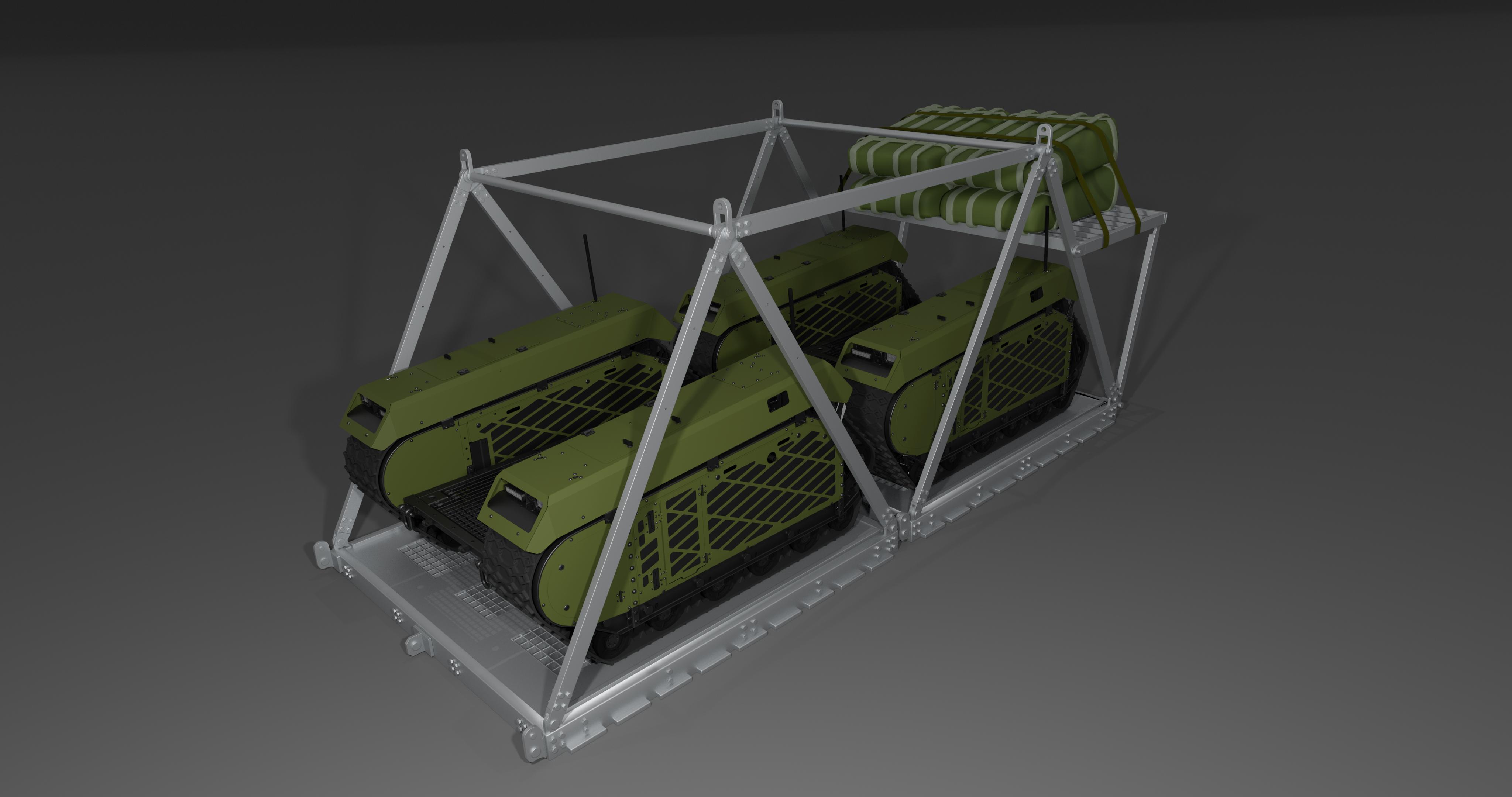 Milrem Robotics IrvinGQ unmanned system airdrop system